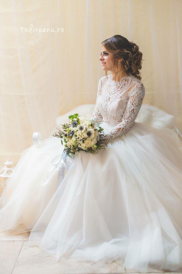 Winter fairytale wedding bride