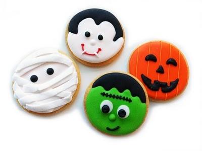 halloween cookies want to do mummy. pumpkin and frankenstien.