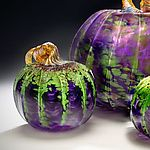 Mardi Gras Pumpkins by Mark Rosenbaum (Art Glass Sculpture) | Artful Home