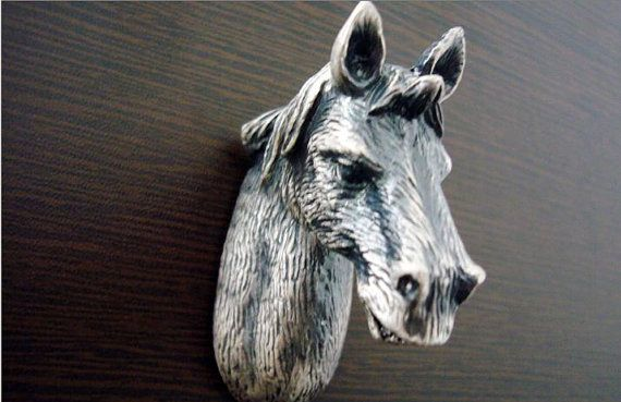 Horse Design Animal Cabinet Knobs Knobs / Dresser Knobs / Drawer Knobs / Drawer Pull Handles / Pulls Handle Unique Antique Silver A02