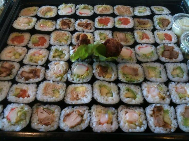 Sushi Sushi Nunawading:    Assortment of tasty bite size hand rolls..