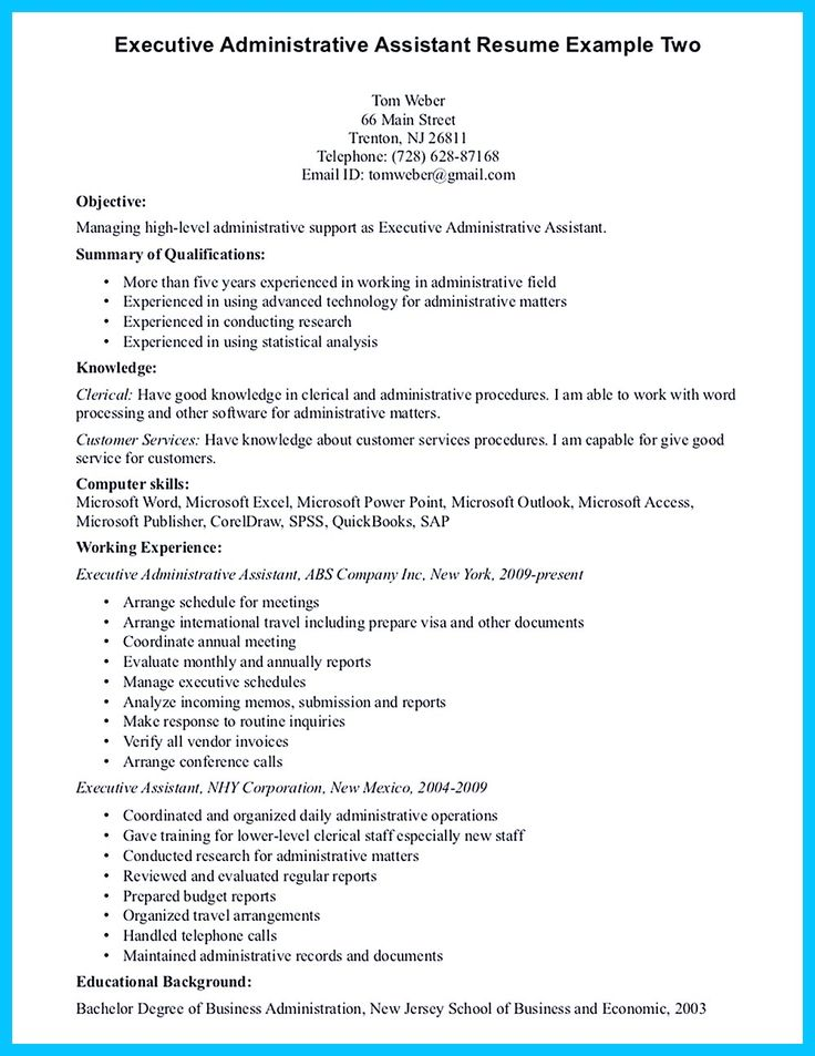 Objective For Executive Assistant Resume Administrative Resume