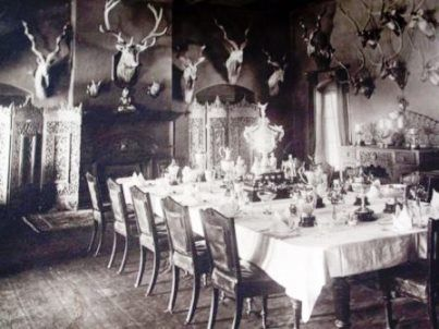 The Officers Mess, Garhwal Rifles, Landsdowne, 1894 - a men only domain, even in the 1930s.