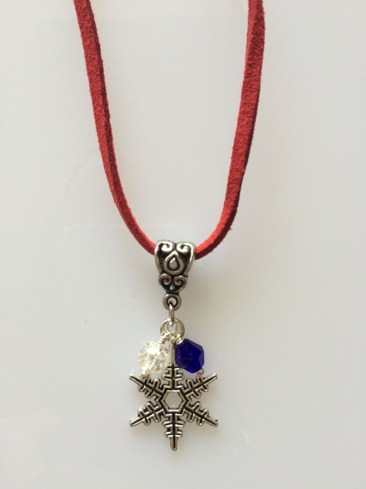 Pendant Necklace - Snowflake -  made with love xx by CharmingDeva on Etsy