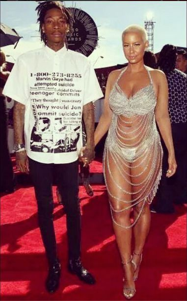 Celebrity Couples At The 2014 MTV Video Music Awards .....Wiz Khalifa and Amber Rose