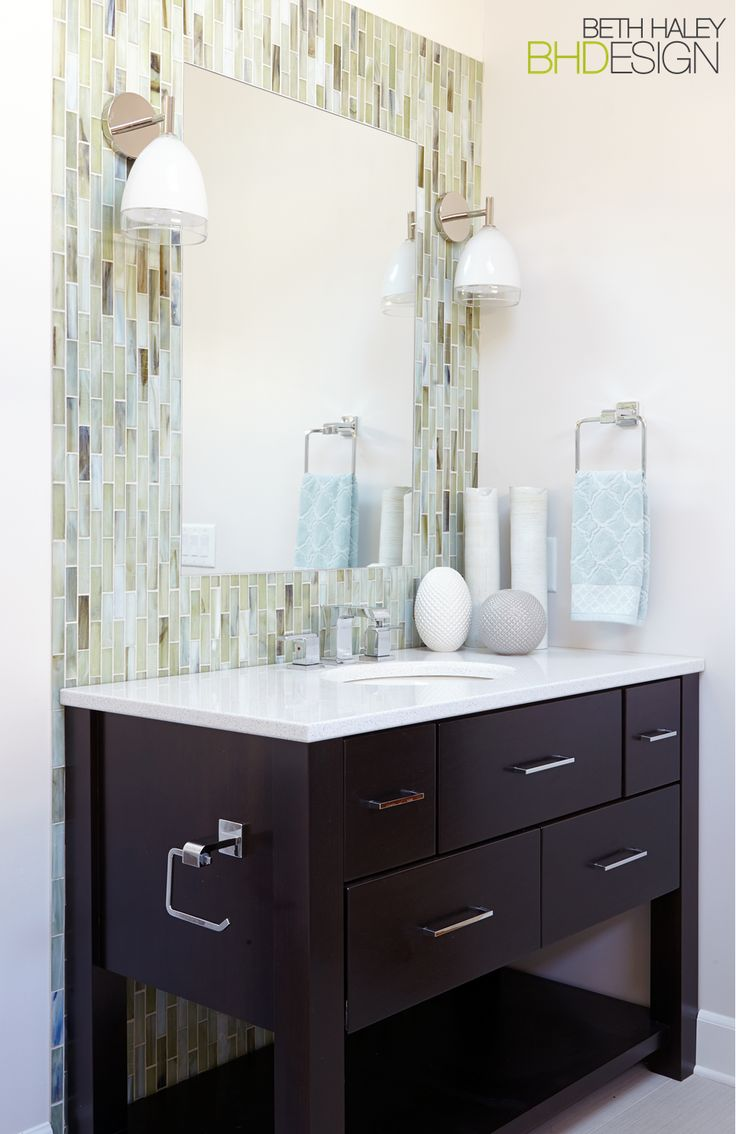 Tile Feature on Vanity Wall