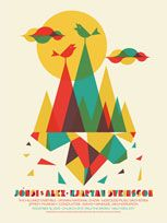 jonsi & alex - poster by dan stiles: Posters Prints, Sigur Ros, Popular Colors Schemes, Gig Posters, Graphics Design Art, Illustration, Concerts Posters, Alex O'Loughlin, Dan Stiles