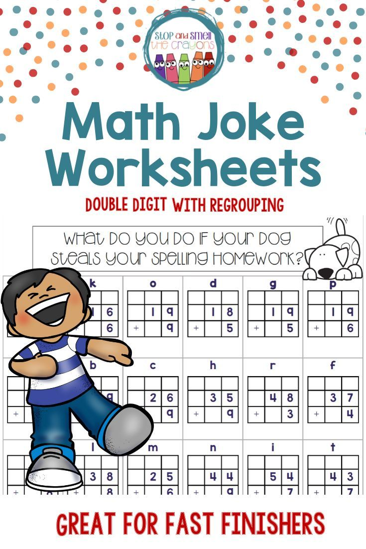Fast Finishers Math Jokes Double Digit Addition With Regrouping Math Jokes Double Digit Addition Jokes