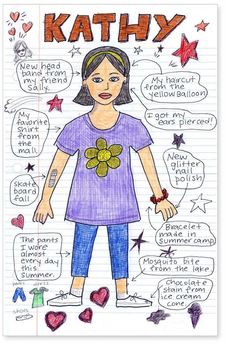 Art Projects for Kids: Doodle Summer Self Portrait
