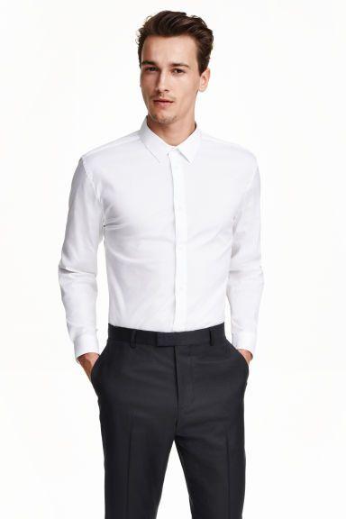 Stretchoverhemd - Slim fit | H&M