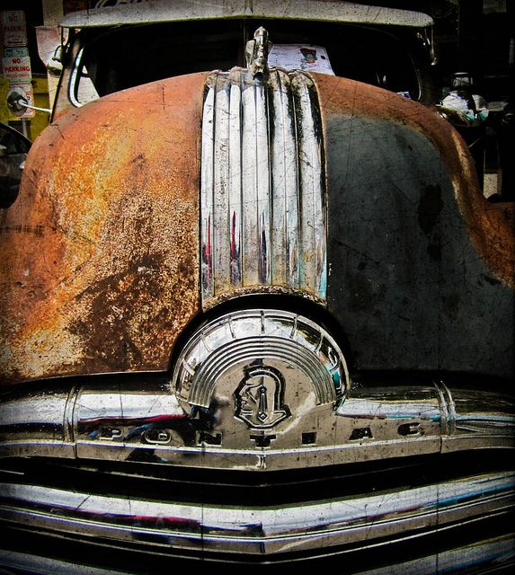 #Pontiac - We love it, especially because of the #rust. #Vintage #Classic #Chrome #RustinPeace