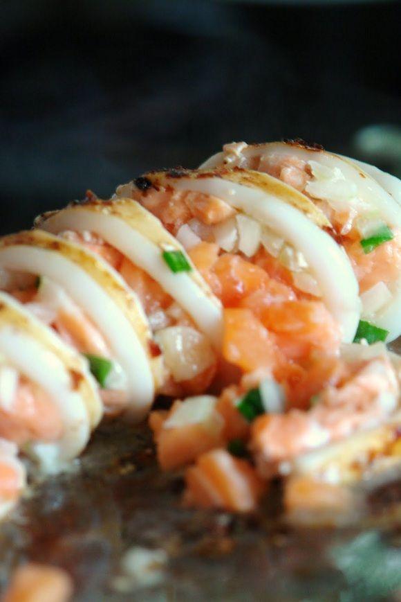 como fazer receita facil lula recheada com salmão ajinomoto cebola tabasco curry