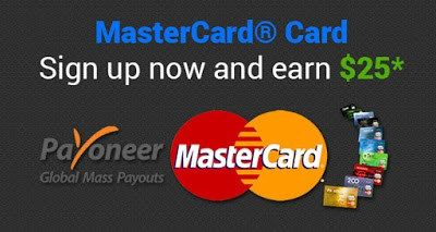 Sign Up For Payoneer Mastercard In Pakistan with 25$ Bonus Free. http://www.androidcooltricks.com/get-payoneer-prepaid-mastercard-in-pakistan/