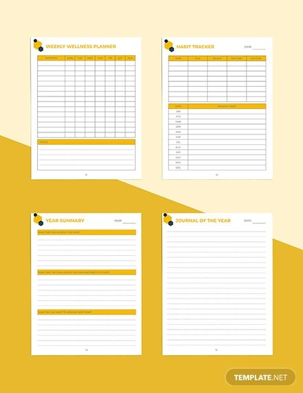Room Design Layout Templates: Yearly Digital Planner Template In 2020