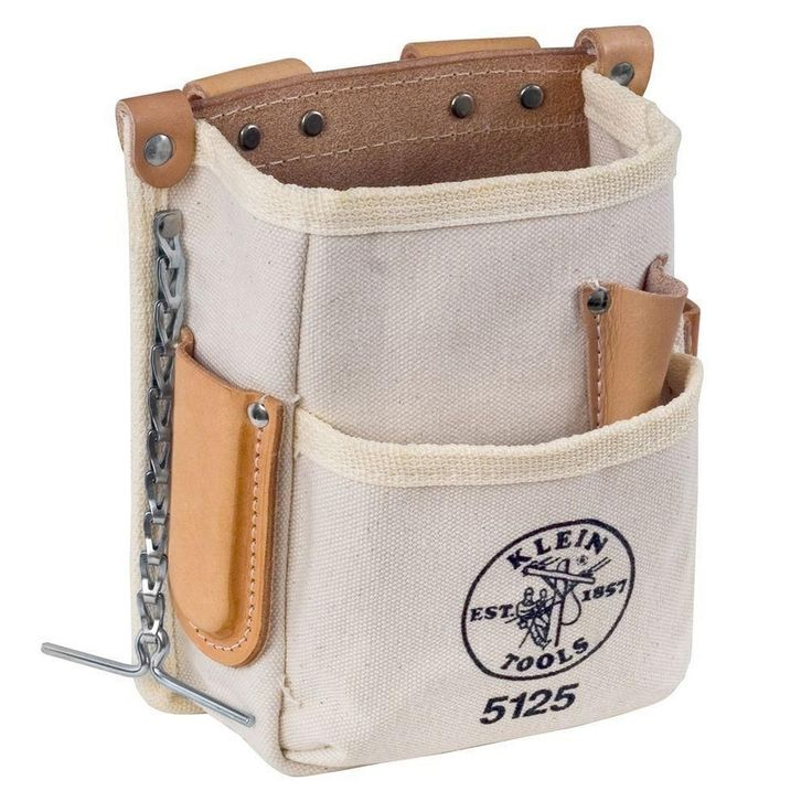 Klein Tools Linemans Electricians 5-Pocket Canvas Tool Storage Bag Pouch #KleinToolsInc