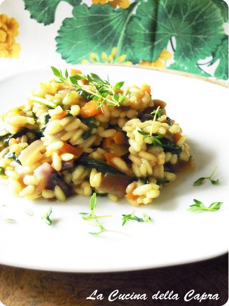 Risotto agli spinaci al profumo ditimo   #vegan #vegetarian