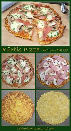 Kürbis Pizza low carb Und noch ein Pizza-Rezept Im Gemüse verstecken bin ich ja mit den Jahren schon wegen meiner Kinder sehr erfinderisch geworden. In dieser Pizza verstecken sich nun 200 g Kürbis. Schmeckt man gar nicht…. Zutaten pro Person: Für den Teig: 200 g Kürbis 100 g Hüttenkäse / körniger Frischkäse 1 Ei 1 EL * Flohsamenschalen Salz Belag : 4 EL Pürierte Tomaten Salz, Pfeffer, Provencekräuter 2 Scheiben gekochten Schinken 2 große Champignons 125 g Mozzarella, geraspelt #abnehmen…