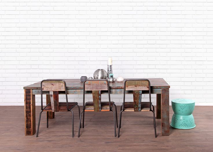 You will find plenty of recycled timber furniture in Vast Interior. This industrial look is created using our Salvar Dining Table