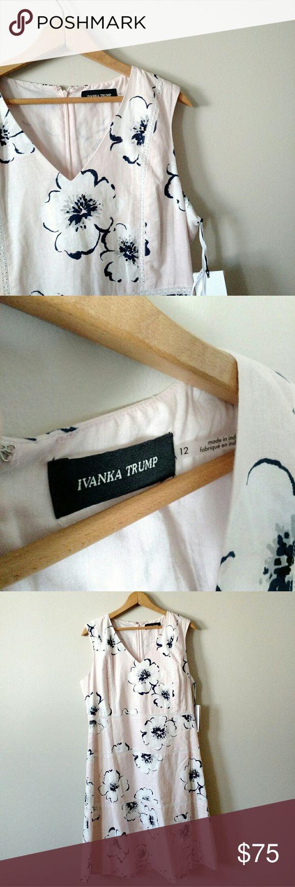 NWT Ivanka Trump Dress Blush Pink Floral NWT Ivanka Trump Dress Blush Pink Floral . Brand New With Tags. Size 12.; Ivanka Trump Dresses
