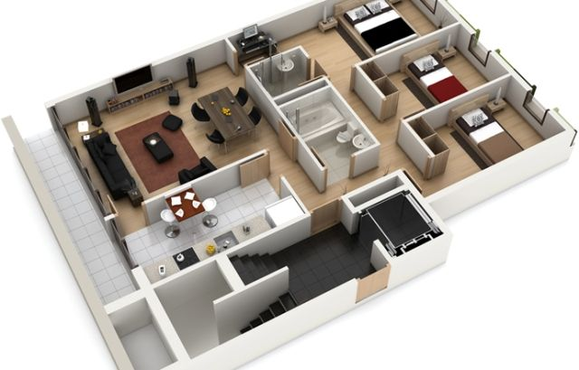Floor plan in autocad file plan home plans ideas picture - 3d Miniature House Design Inspirational Home Design