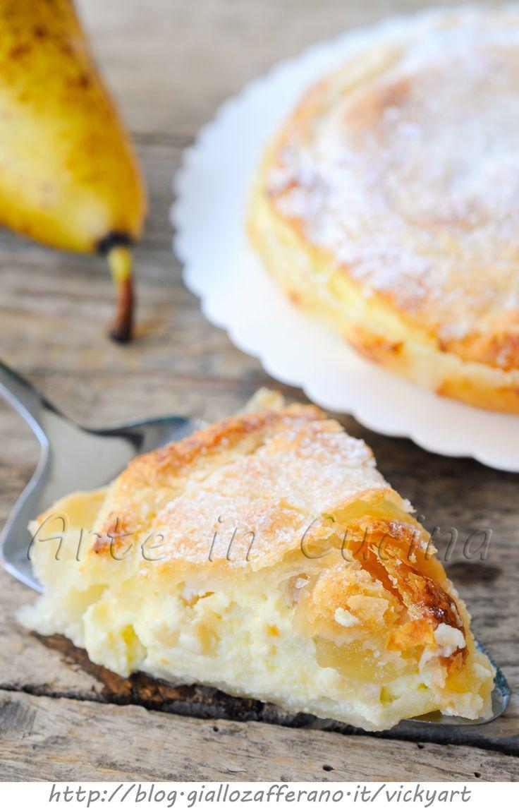 Torta di sfoglia ricotta e pera ricetta dolce veloce vickyart arte in cucina