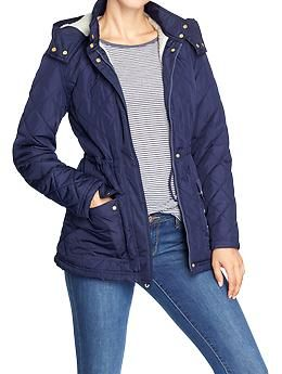Womens Blue Jacket - Coat Nj