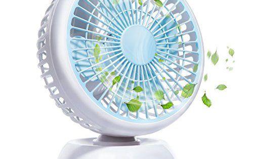 """E-PRANCE E-PRANCE Mini Ventilateur USB de Bureau: ❄【2 Vitesses Réglable】4 feuilles d'éventail(5.5"""") pour faire le vent frais, vous pouvez…"""