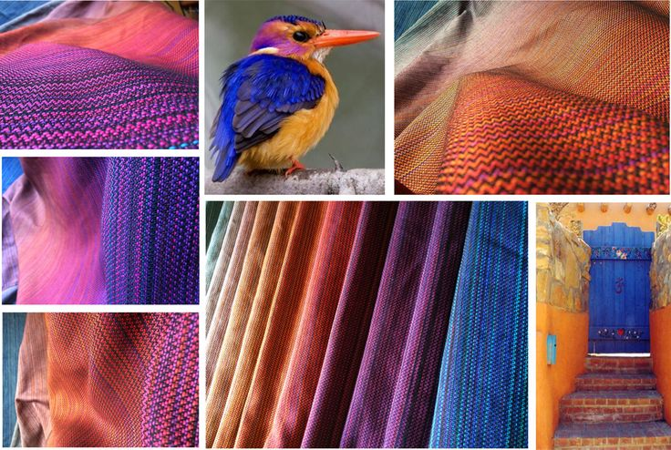 Colorful handwoven baby wrap from Barbrodesign.