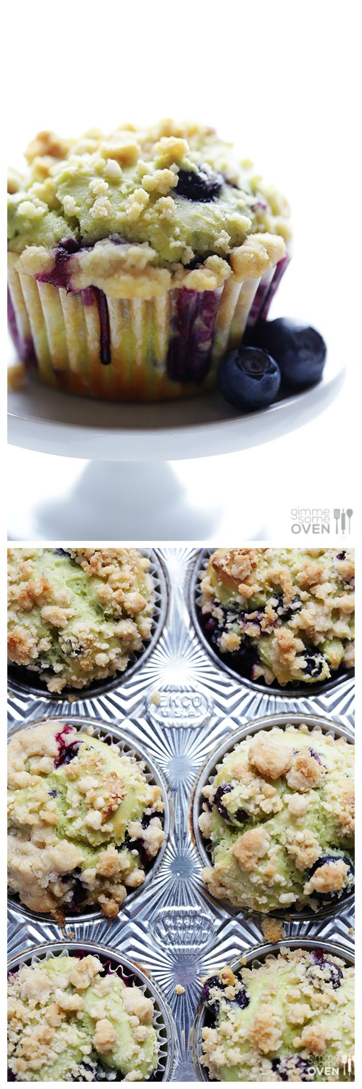 Blueberry Avocado Muffins -- healthier, simple to make, and absolutely delicious!   gimmesomeoven.com
