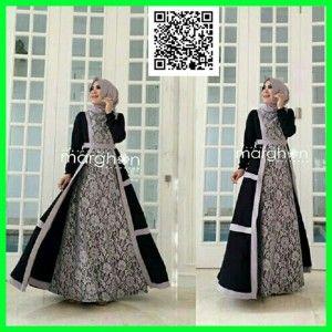 baju-gamis-modern-hijab-marbela-mgs25-hitam