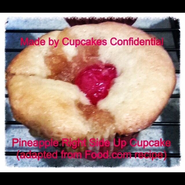 Today's Cupcake: Pineapple Right Side up Cupcake #pineapple #cupcake #maraschino #cherry #bakery #baking #cupcakery #cupcakeart #disabled #veteran #donationsaccepted #online #edibleart #fromscratch #givingback #gratitude #help #heroes #homemade #helpavet #inneed #military #nonprofit #order #thankful #unsungheroes #veterans