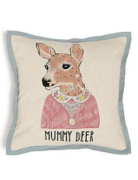 Mummy Deer Cushion
