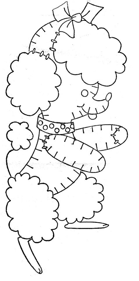embroidery toy poodle