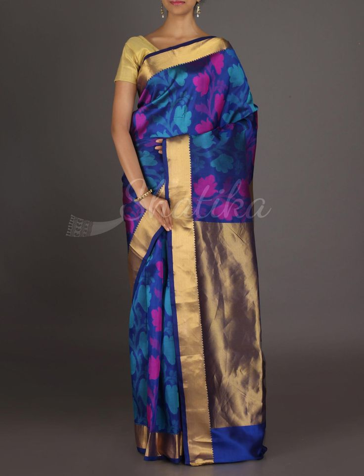 Vanita Blooming Flowers Gold Pallu #ArniSilkSaree