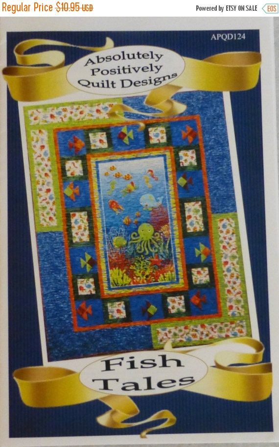 PRESIDENTS SALE Pattern, Quilt, Lap, Easy, Fast, Fish Tales, Absolutely Positively Quilt Designs, Fast Shipping, pt121