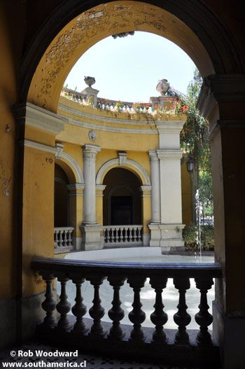 One of the Arches at Cerro Santa Lucia in Santiago, Chile.