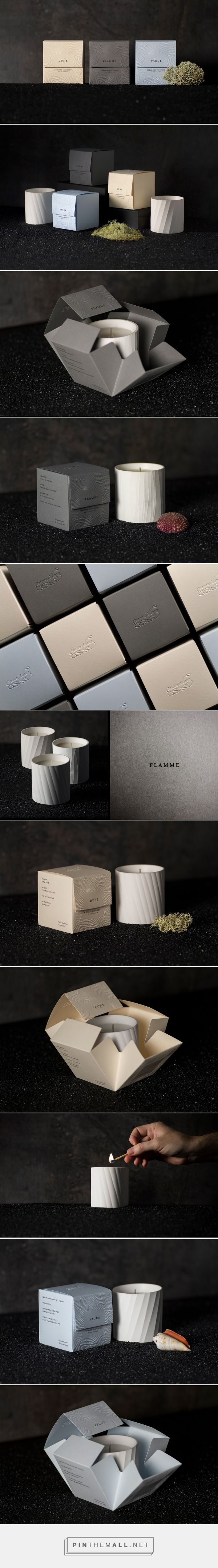 Monsillage Movements Candles packaging design by ByHaus - http://www.packagingoftheworld.com/2018/01/monsillage-movements-candles.html
