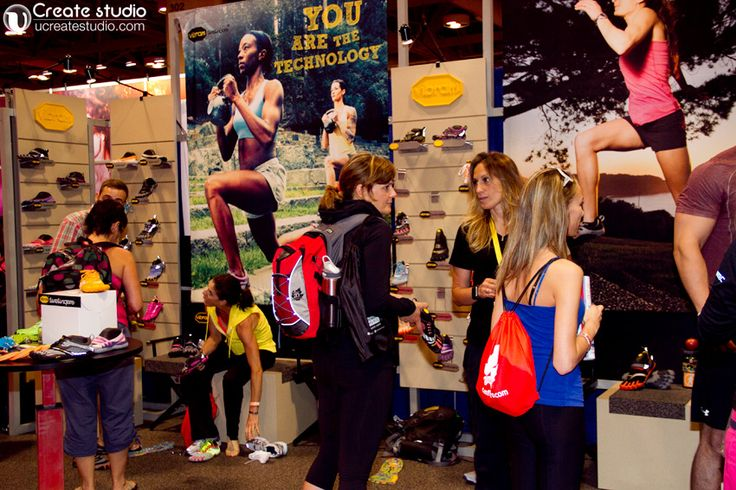 Vibram five fingers shoe at Canfitpro trade show toronto 2013