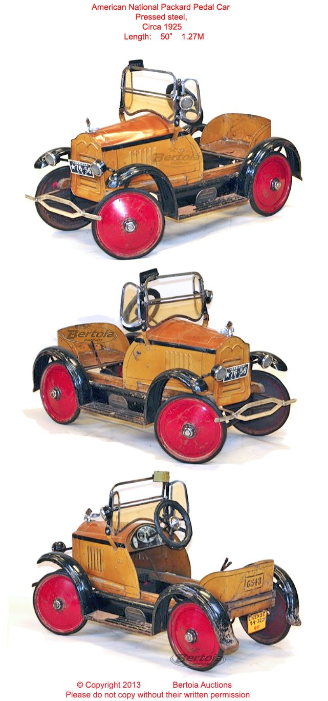 old antique toys american national pedal cars