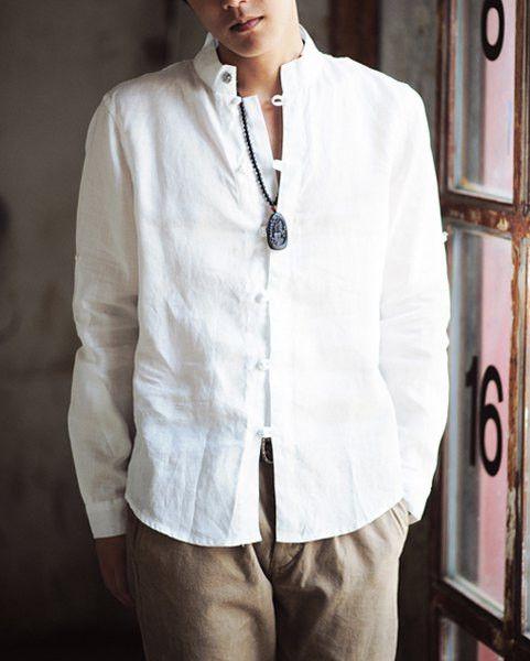 Cotton+ linen shirt