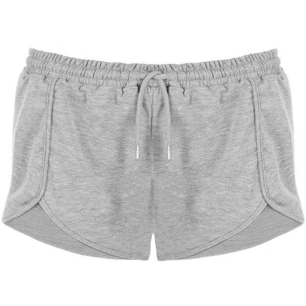 Nude Dolphin Hem Fleece Shorts ($52) ❤ liked on Polyvore featuring shorts, drawstring shorts, dolphin hem shorts, draw string shorts, stretchy shorts and fleece drawstring shorts