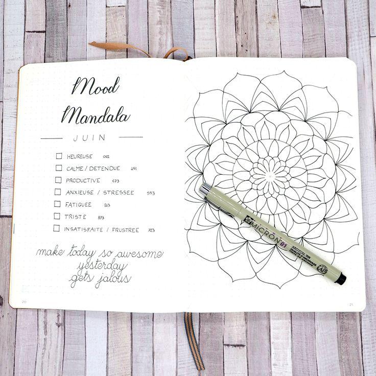 Juin 2017 dans mon Bullet Journal - Mood Mandala