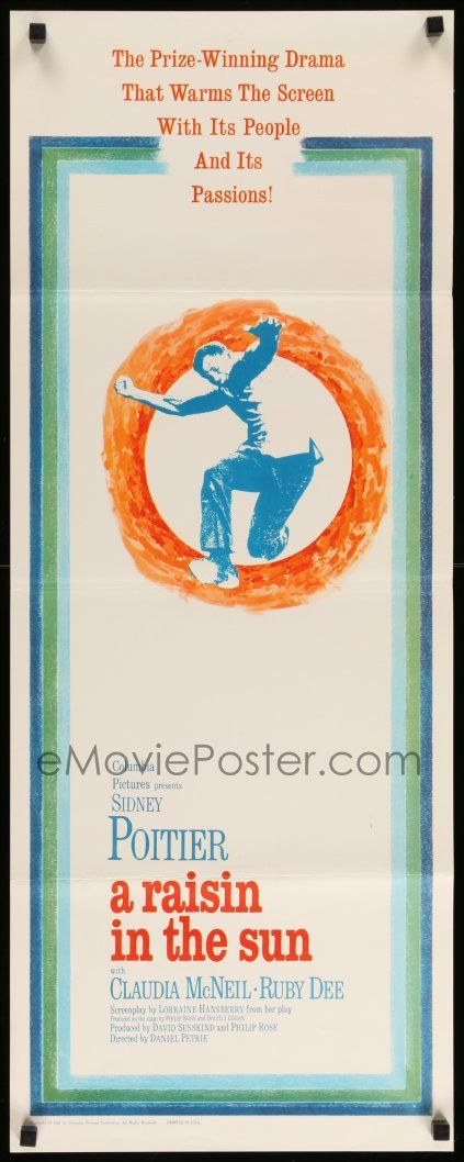 eMoviePoster.com: 3m721 RAISIN IN THE SUN insert '61 Sidney Poitier, from Lorraine Hansberry's prize-winning play!