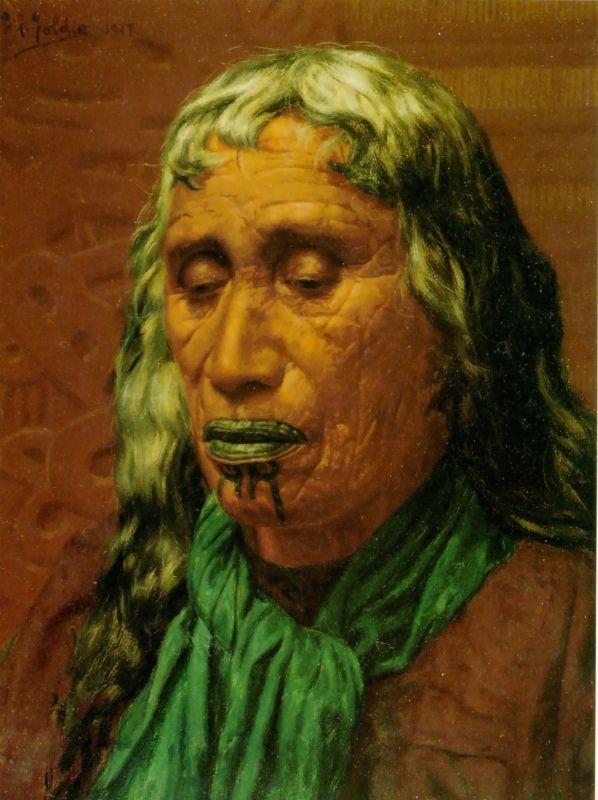 Memories of a Heroine: Hera Puna by Charles Goldie, Oil on canvas
