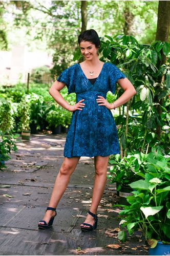 Yorktowne Blue Batik Dress | Knee length Batik dress | Indonesia | shopgofish.com