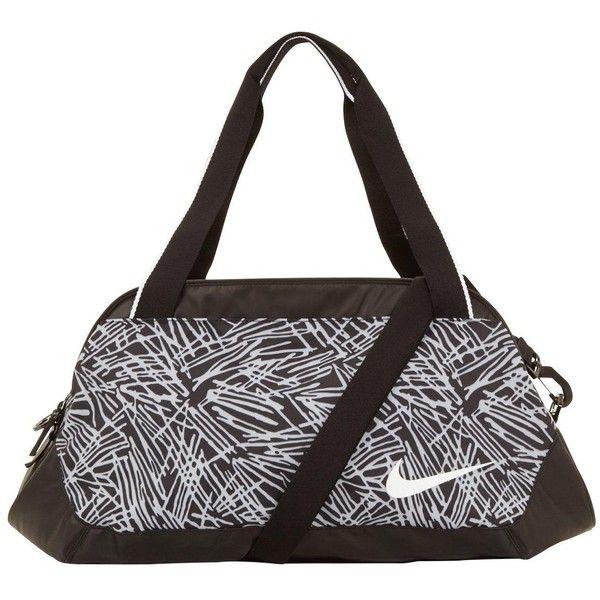 Nike Legend Club Print Gym Bag ($47) ❤ liked on Polyvore featuring bags, handbags, nike, bolsos, nike handbags, top handle handbags, water resistant bag and pattern purse