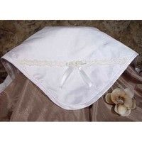 Wish | Little Things Mean A Lot Baby Off White Silk Blanket Venise Lace (Size: One Size, Color: Multicolor)