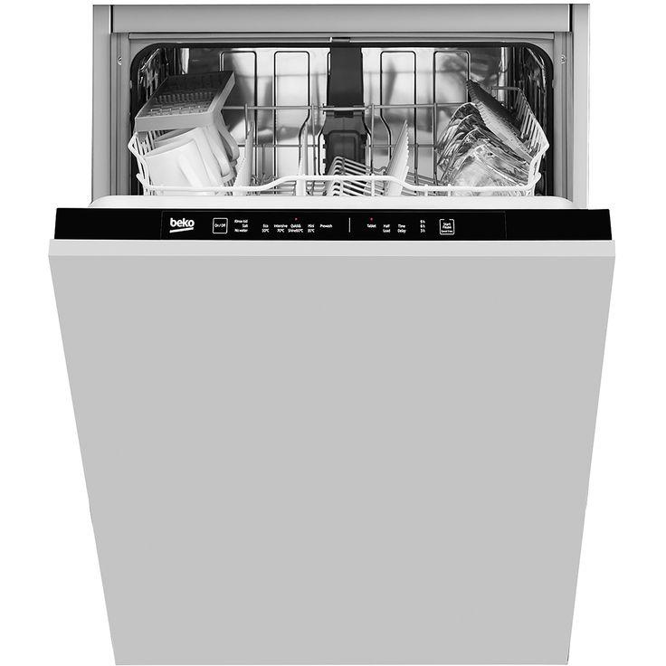 Beko din15r11 fully integrated standard dishwasher black