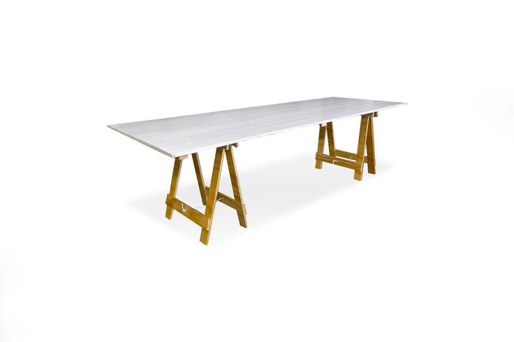 Whitewash Timber Table - South Coast Party Hire
