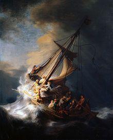 Rembrandt La tormenta en el mar de Galilea, 1633. Obra en paradero desconocido desde su robo del museo Isabella Stewart Gardner en 1990.